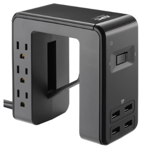 APC Clamp Surge Protector PE6U4 with 4 USB Ports and 6 Outlets