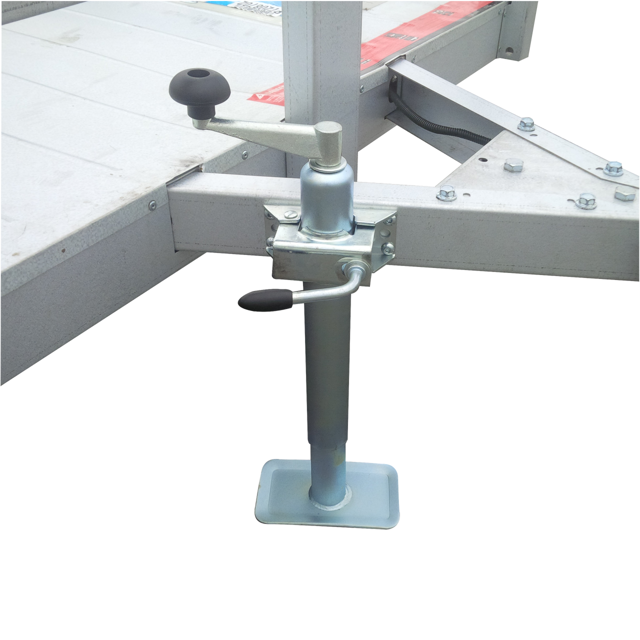 Shown installed on a 4' X 6' trailer.