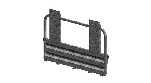 5' Deluxe Rear Ramp Gate w/Mounting Hardware.