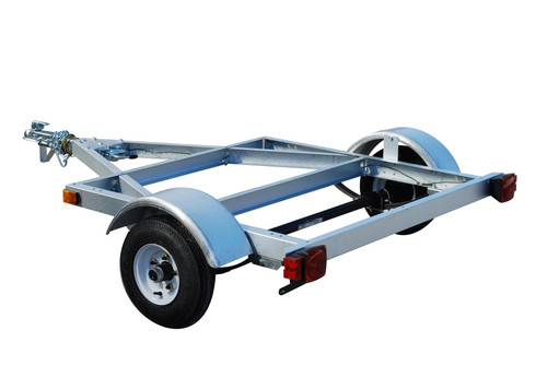 4' x 4' Kit Trailer The kit includes frame, wiring, 12 volt tail lights with quick connect, side marker lights, 1 7/8 in. coupler and safety chains.