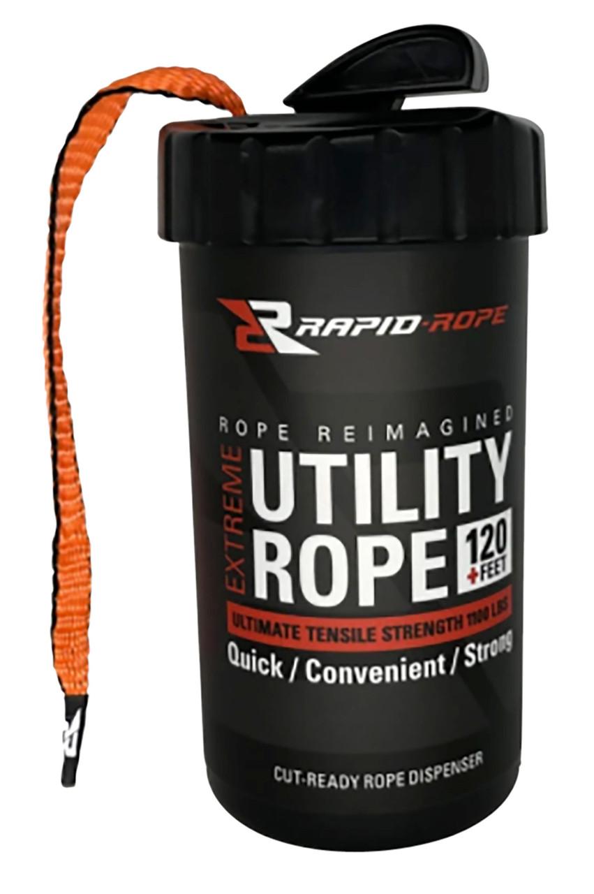 RAPID ROPE LLC Rope Canister 120' Long, Orange
