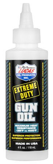 Lucas Extreme Duty Gun Oil, 4oz or 8oz bottles