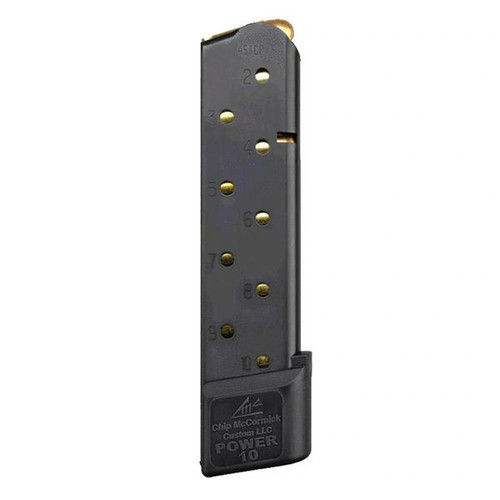 Chip McCormick Railed Power Mags 10 rd. Stainless steel