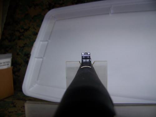 "Remington 12ga 870P Barrel, 14"" Trijicon Rifle Sighs"