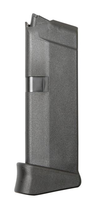 Glock  Magazine OEM 380 ACP Glock G42 6rd Black, Finger Extension