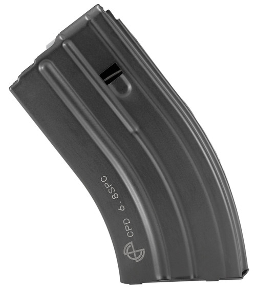 C Products Defense Inc DURAMAG SS 22 Nosler 6.8 SPC 20rd Black with Gray Follower