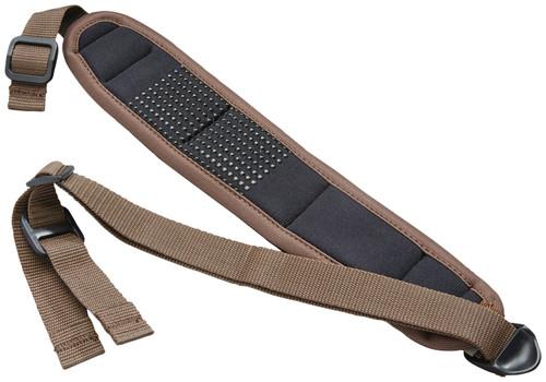 """Butler Creek 180015 Comfort Stretch Sling 2.50"""" W x 44"""" L Adjustable Brown"""
