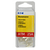 ATM mini blade 25 amp fuse clear Bussmann 25 piece value pack