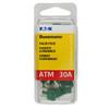ATM mini blade 30 amp fuse green Bussmann 25 piece value pack