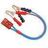2 foot Jumper Cable Clamp Adapter,  4 gauge dual-conductor wire, quick disconnect plug to Booster Cable Clamps