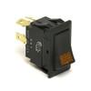 5828-13 Rocker Switch, Off-On SPST 3 Blade Terminals, Amber Lens