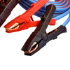 25' Cold Weather Heavy Duty Jumper Cable  1/0 Gauge Booster with 1000 amp solid copper clamps and rugged jumper cable storage bag