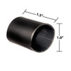 1 by 1-1/2 Inches Black Heavy Wall Heat Shrink, Adhesive Lined, 3 to 1 Shrink Ratio