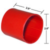 2 x 2  Inches Red Heavy Wall Heat Shrink, Adhesive Lined, 3 to 1 Shrink Ratio