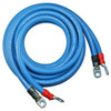 """132"""" 4/0 AWG Arctic Ultraflex Blue Positive and Negative Inverter Cable pair with 3/8"""" plated copper eyelet lugs and black and red heavy wall adhesive lined heat shrink"""