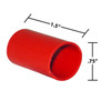 3/4 by 1-1/2 Inches Red Heavy Wall Heat Shrink, Adhesive Lined, 3 to 1 Shrink Ratio