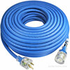 100 foot 14 gauge Arctic Ultraflex Blue extension cord single outlet NEMA 5-15 lighted power cord