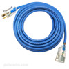 25 foot 16 gauge Arctic Ultraflex Blue power extension cord, SEOOW abrasion resistant, highly flexible, cold weather,  NEMA 5-15 lighted end