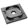 1 1/2 inch black uv resistant nylon 6.6 adhesive cable tie mount, 175 pound pull