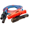 15 foot 1/0 gauge Arctic super flex blue Jump Start cable with J1238 plug and 1000 amp copper clamps for heavy equipment and auxiliary starter systems