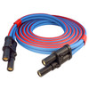 15 foot 1/0 gauge Arctic Ultraflex Blue plug to plug Jump Start cable fitted with J1238 plugs on both ends