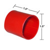 1-1/2 by 1-1/2 Inches Red Heavy Wall Heat Shrink, Adhesive Lined, 3 to 1 Shrink Ratio