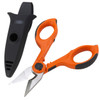Taskmaster Electrician Scissors feature heavy duty stainless steel micro-indented cutting blades