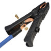 Braided copper bonding strap supplies power to both jaws for better amperage (clamp only, cable and lug sold separately) 1000 amp copper replacement jumper cable clamp