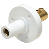 Marinco 150 Amp Female CLM 15 Series Mini Panel Mount Single Pin Cam Lock Connector 8-2 AWG White Double Set Screw Style