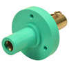 Marinco 150 Amp Female CLM 15 Series Mini Panel Mount Single Pin Cam Lock Connector 8-2 AWG Green Double Set Screw Style