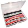 Dual Wall Heat Shrink Kit stocked with 12 inch lengths of black, red, and clear adhesive-lined heat shrink tubing in  3/16 inch, 1/4 inch, 3/8 inch, and 1/2 inch diameters