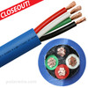 6 AWG 4 conductor Arctic Ultraflex Blue SEOOW Power Cord, 600 Volts, black, white, red, and green 100% copper conductors