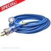 Arctic Ultraflex Blue cords feature steel retaining rings securely crimped to the cord and molded into the NEMA 5-15 ends to add strength and prevent pull out