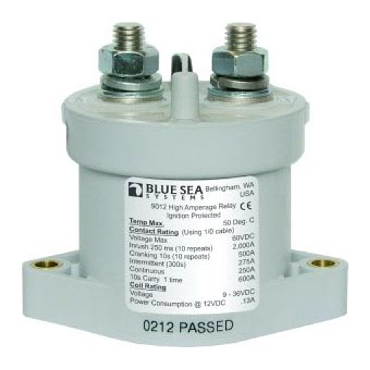 SOLENOID E SERIES 250A 12/24V WITH CE