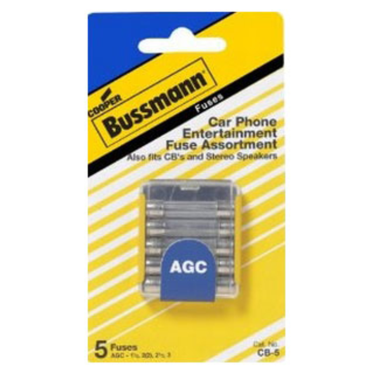 FUSE ASSORTMENT 5 PCS CAR PHONE AGC FUSES