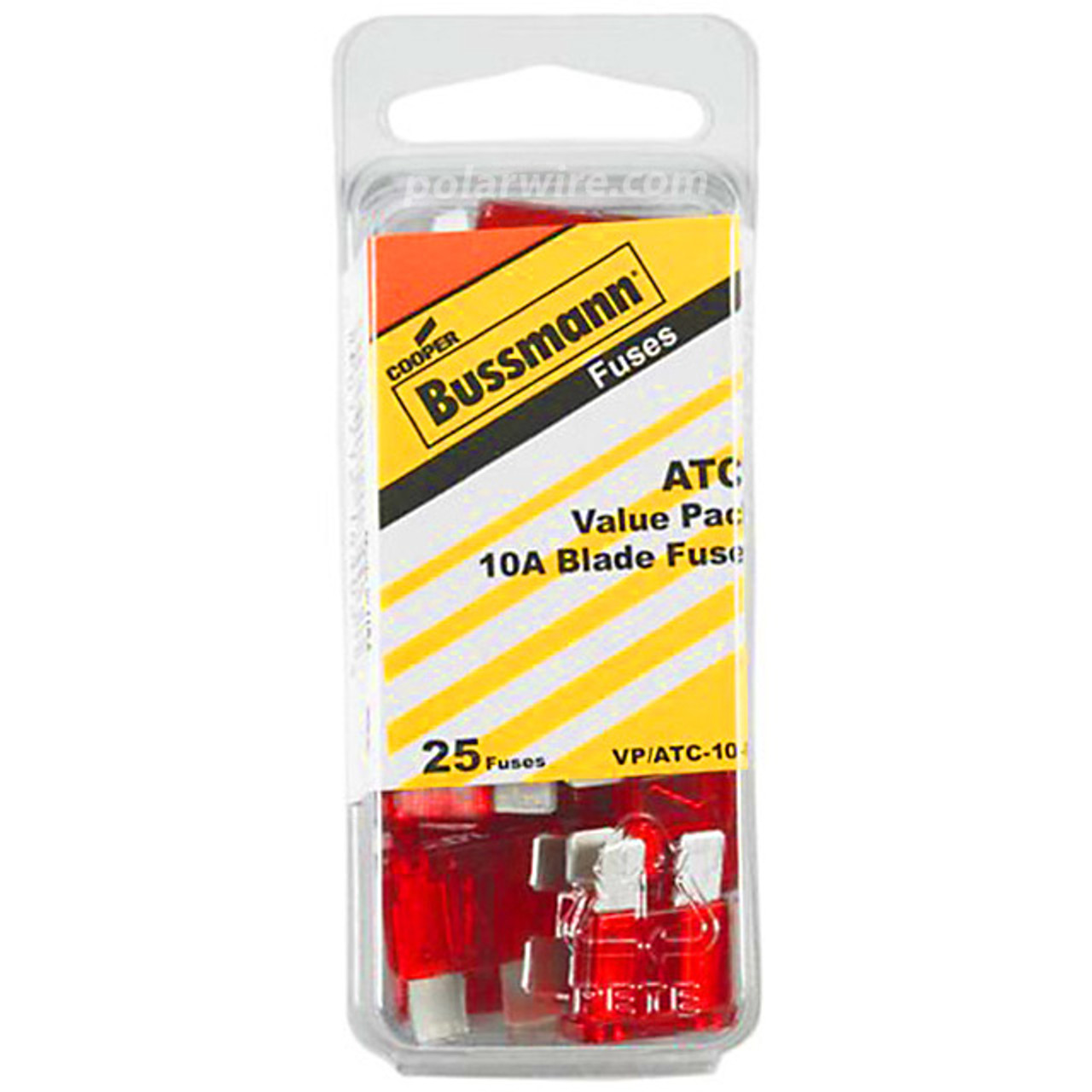 ATC BLADE FUSE 10AMP 25PC  VALUE PACK