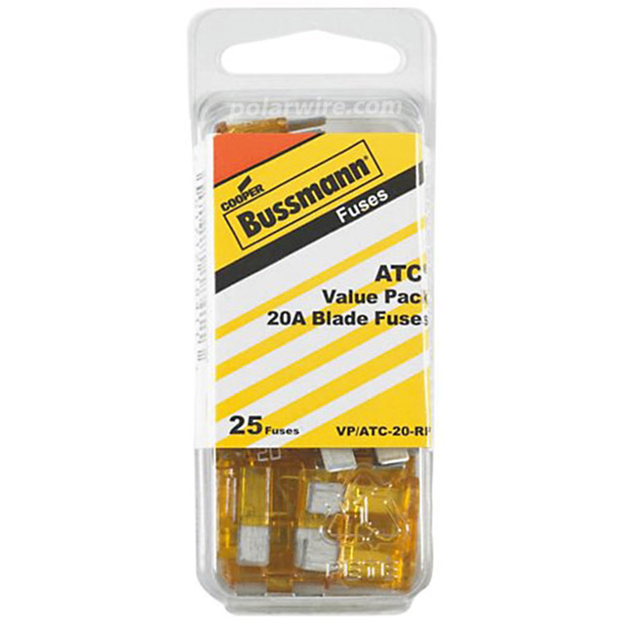 ATC BLADE FUSE 20AMP 25PC  VALUE PACK