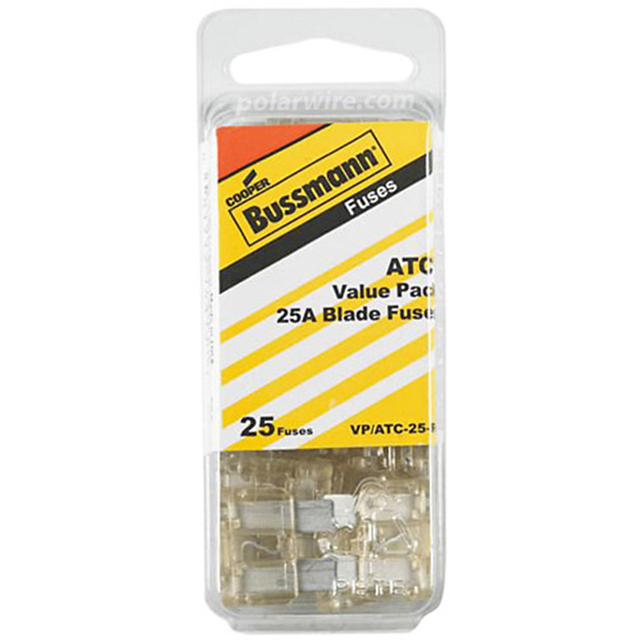 ATC BLADE FUSE 25AMP 25PC  VALUE PACK
