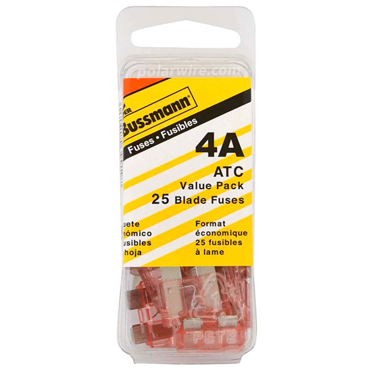 ATC BLADE FUSE 4AMP 25PC  VALUE PACK