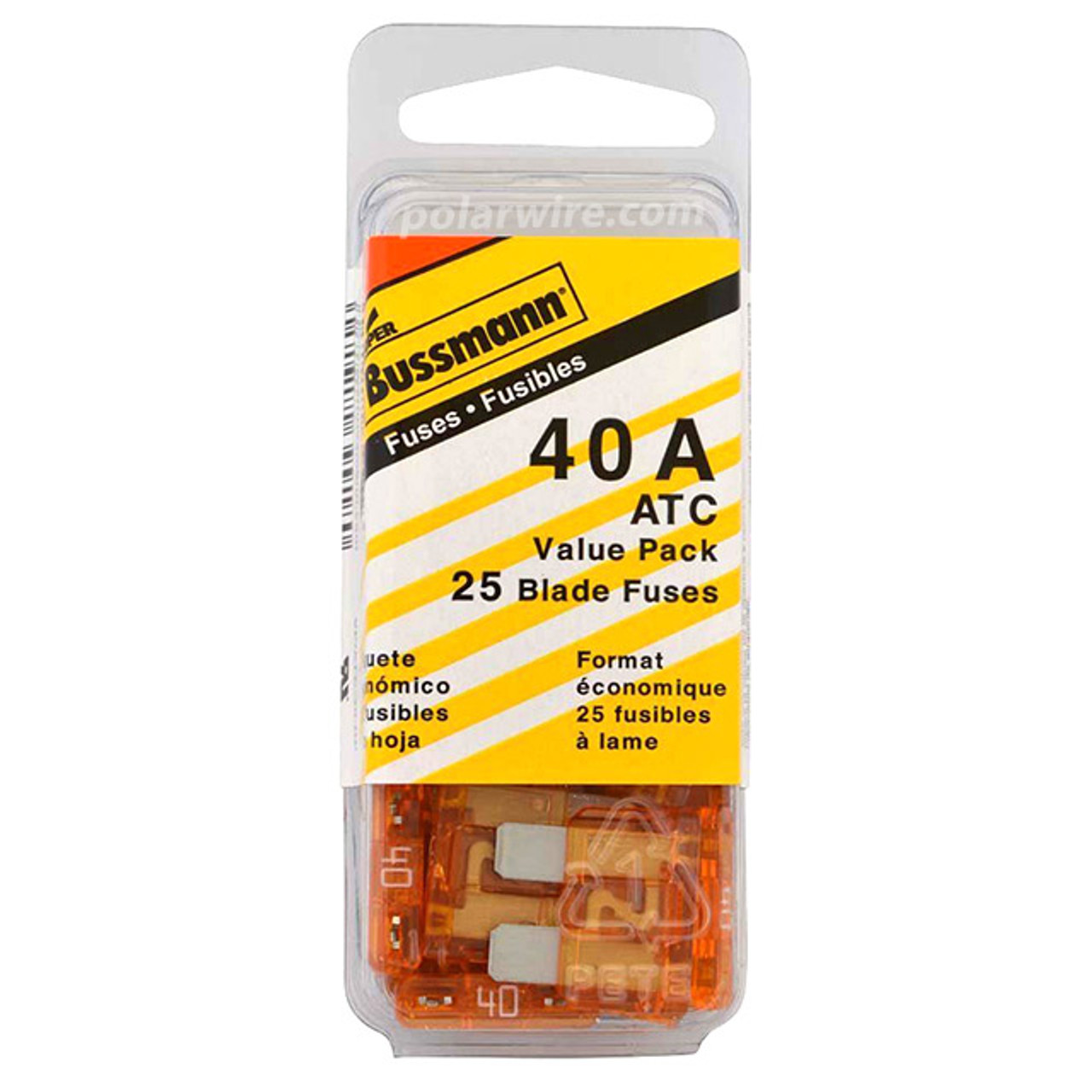 ATC BLADE FUSE 40AMP 25PC  VALUE PACK