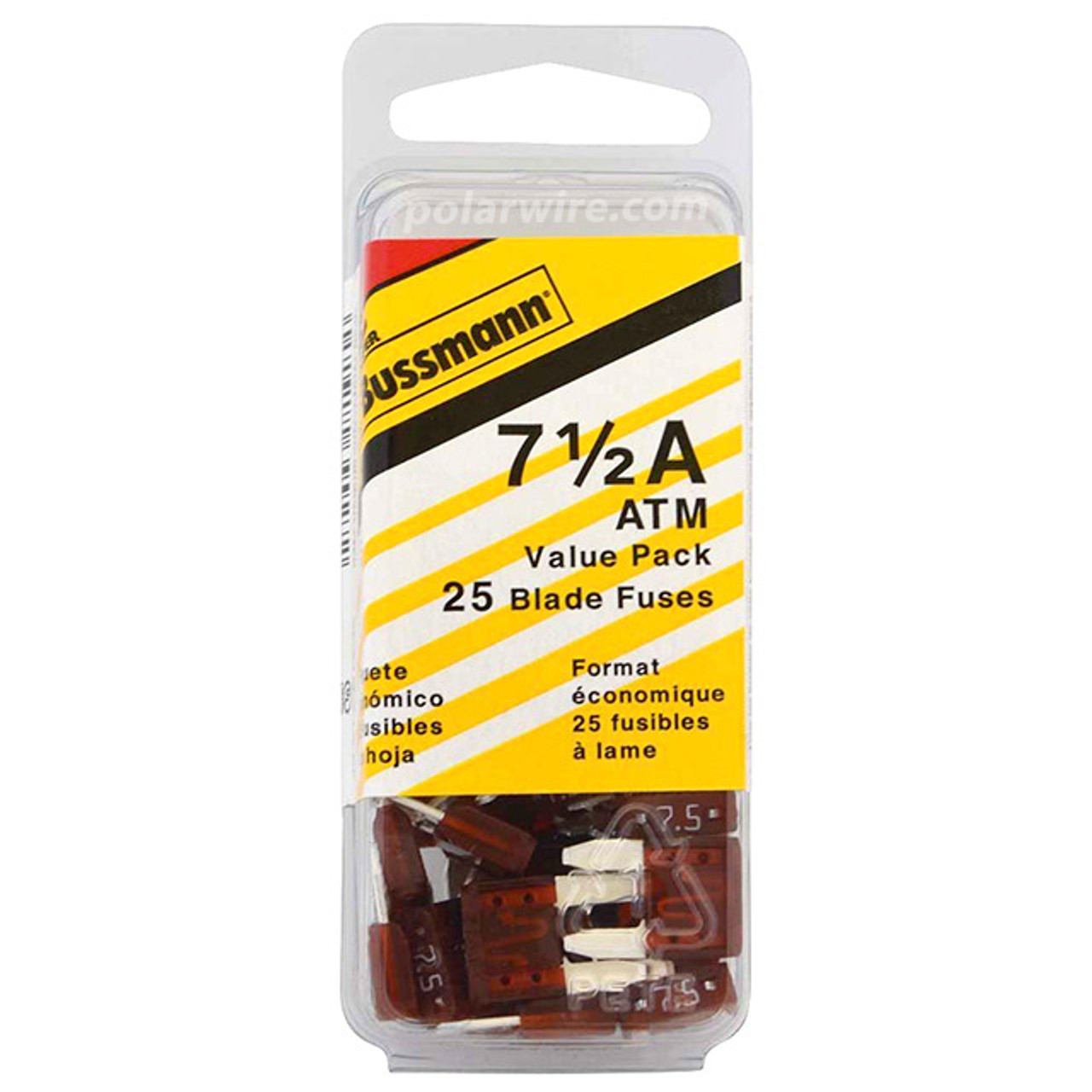 ATC BLADE FUSE 7-1/2A 25P C VALUE PACK