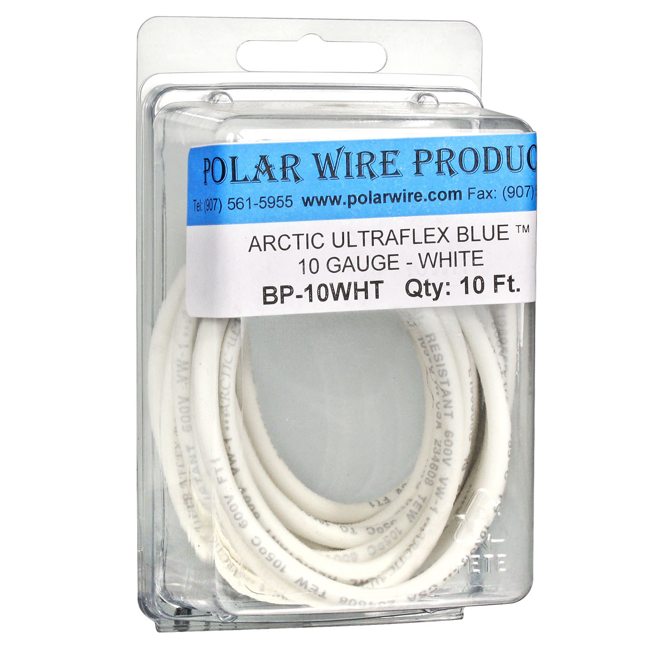 ARCTIC ULTRAFLEX 10GA WHITE  10 FOOT PACK