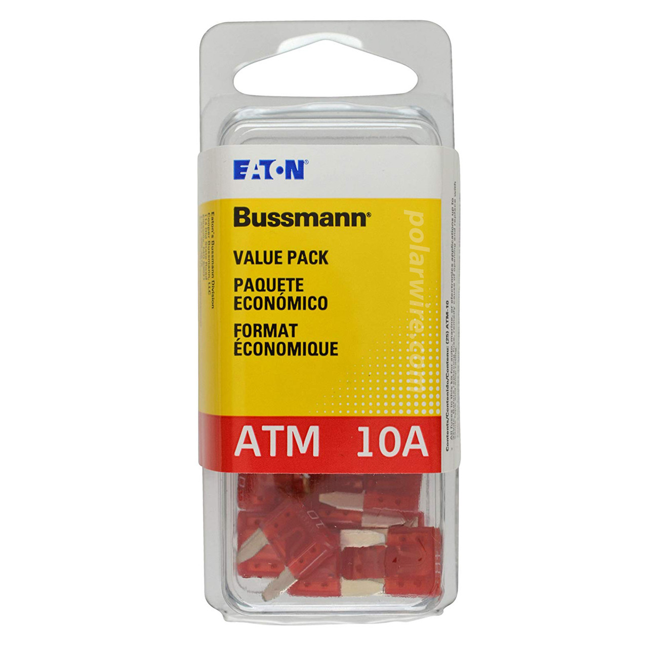 ATM mini blade 10 amp fuse red Bussmann 25 piece value pack