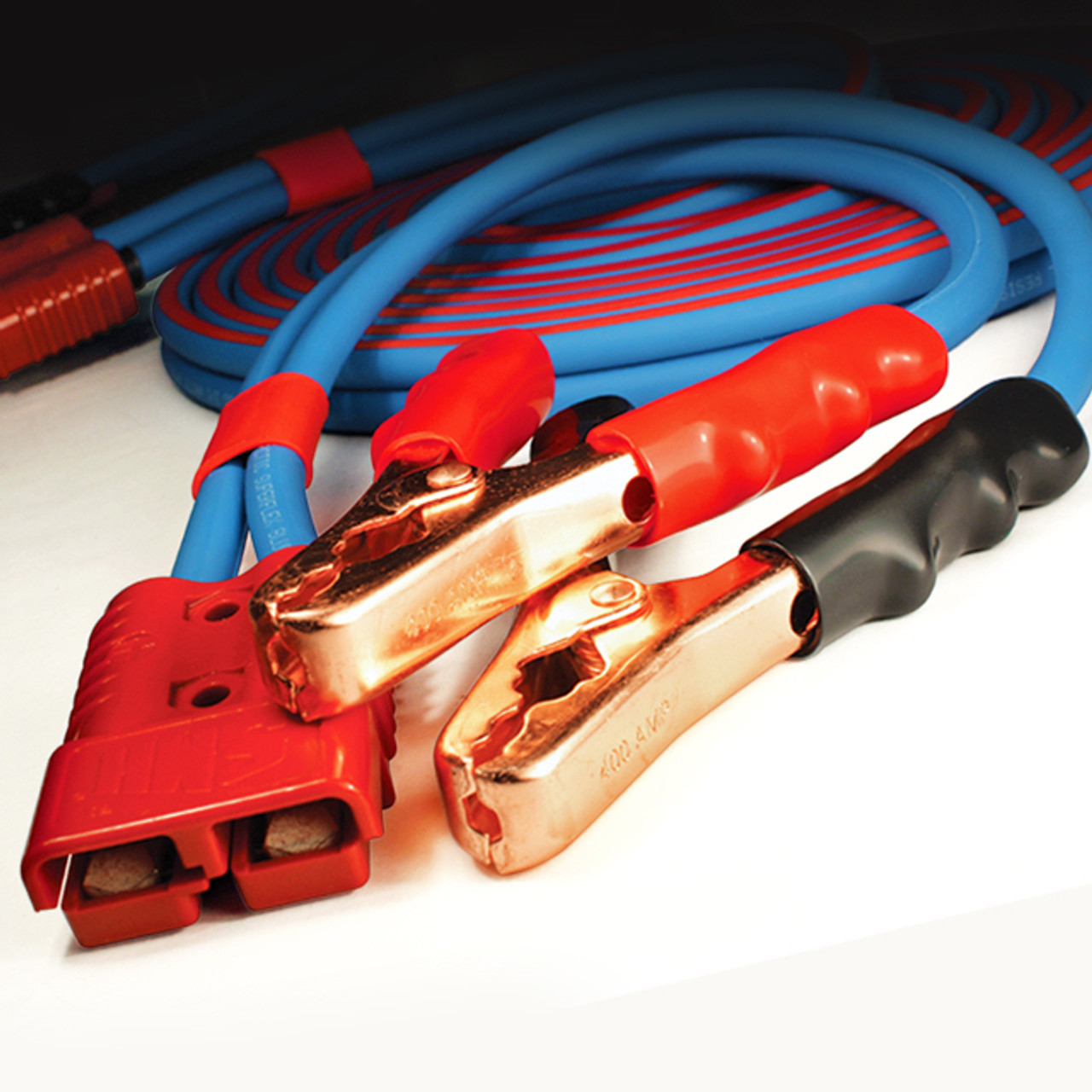 Jumper Cable Clamp Converters are fitted with impact resistant power connectors for quick, secure connections