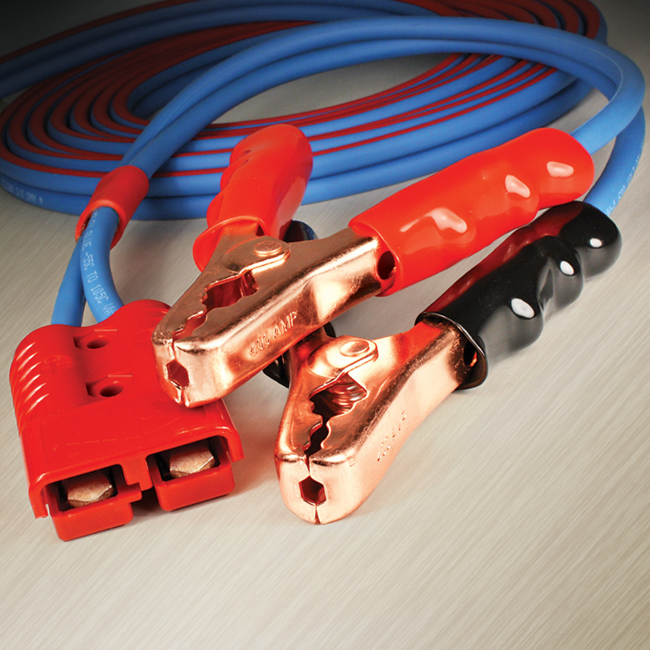 2 foot, 4 gauge Jumper Cable Clamp Adapter for use with 4 gauge Arctic Ultraflex Blue Harness and Fleet Booster Cable systems
