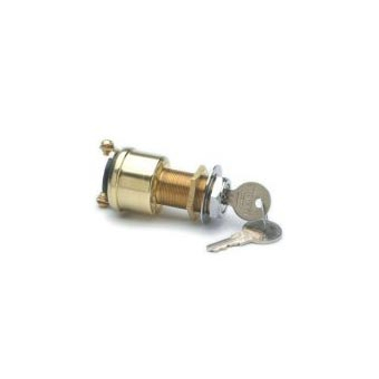 BAT. MARINE IGN SWITCH 2P 2 KEYS W/BRASS 2 SCREW T