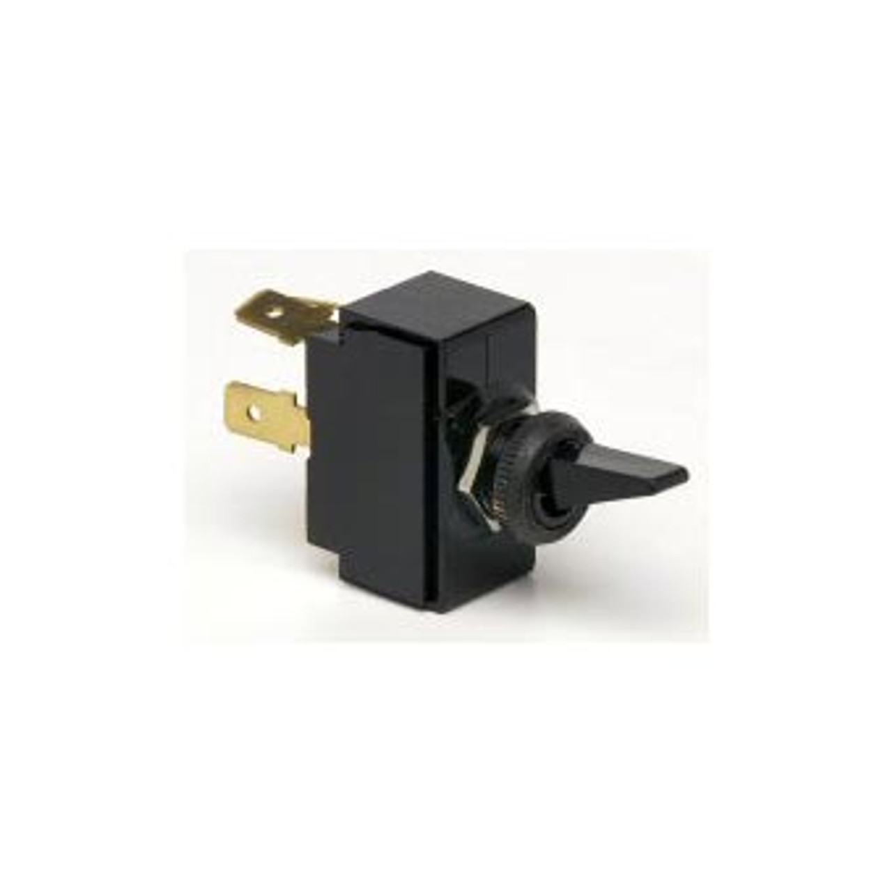 TOGGLE SWIT BLK ON-OFF 2B SPST 2 BLADE TERMINALS