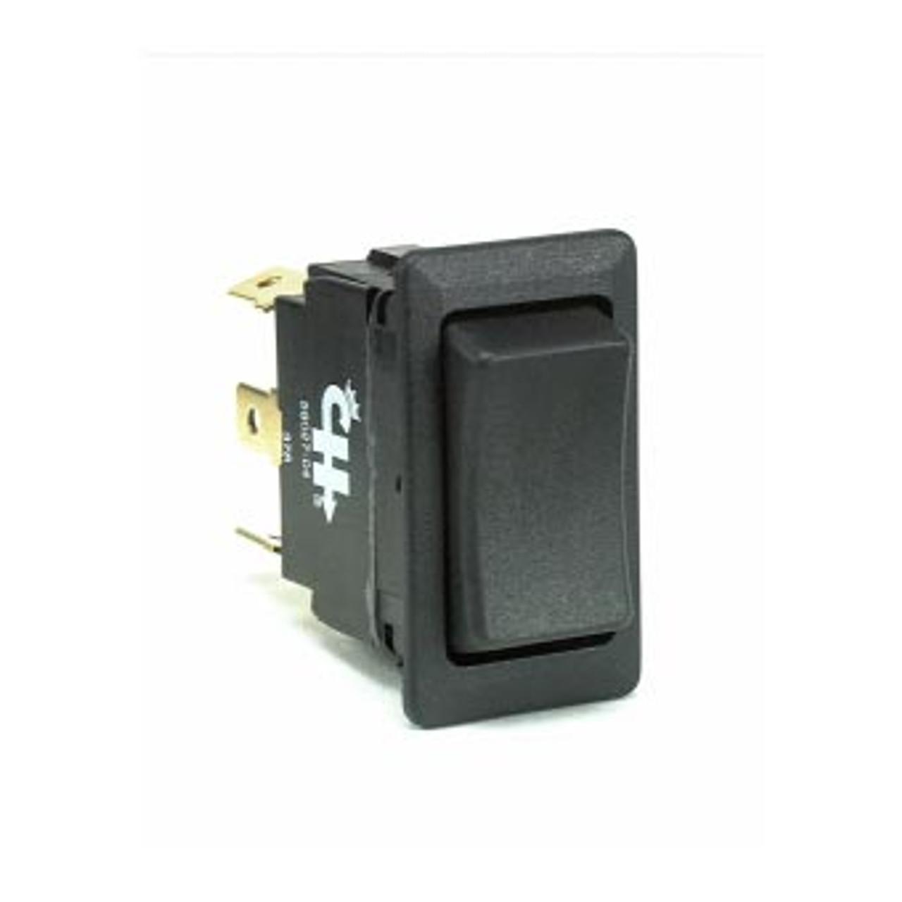 58027-11 Rocker Switch On-Off-On, DPDT 6 Blade Terminals