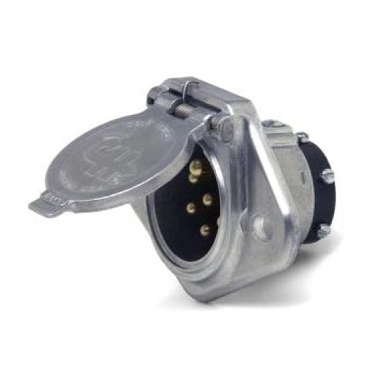 TRLR CONNECT 7POLE SOCKET SELF GROUNDING SPLIT PINS