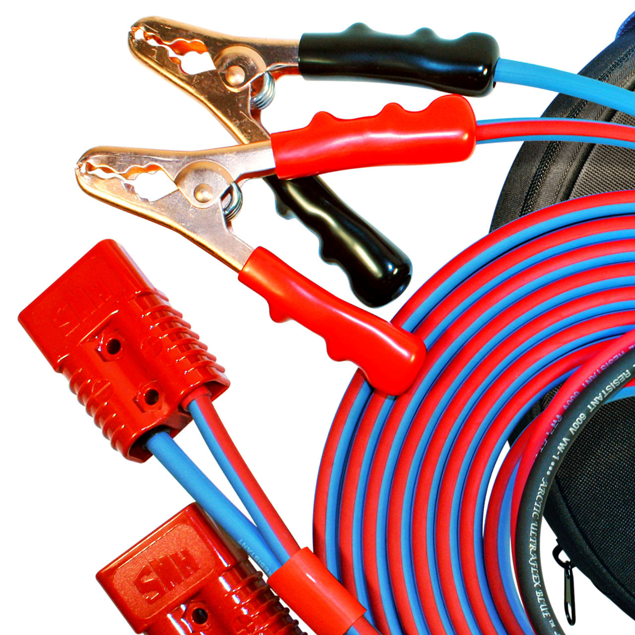 The very best jumper cables available anywhere! 4 gauge, 2 foot clamp style battery booster cables